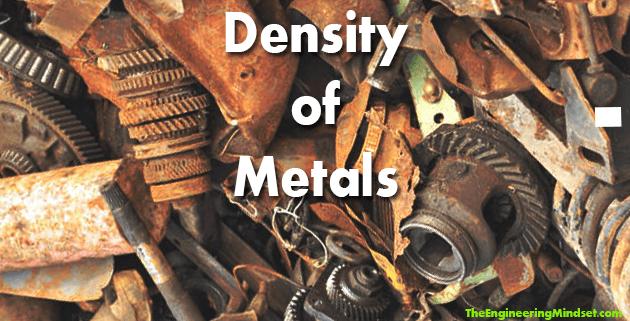 density of metals