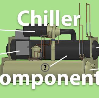 chiller components parts of a chiller evaporator compressor condenser expansion valve power unit controls