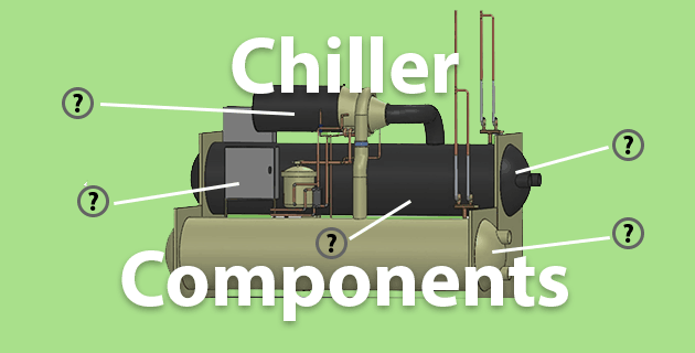 chiller components parts of a chiller evaporator compressor condenser expansion valve power unit controls
