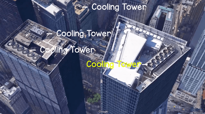 Cooling Towers on large commercial buildings