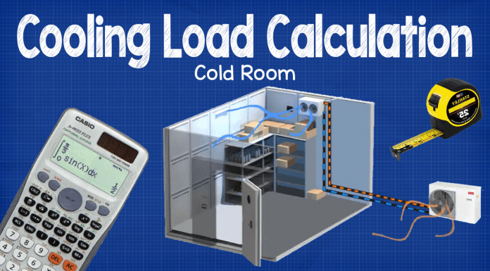 Cooling load calculation cold room