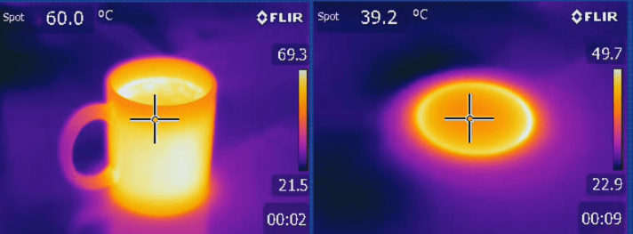 Thermal image conduction heat transfer - hvac heat exchangers