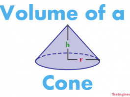 Volume of a cone, how to calculate