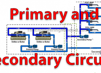 Primary and Secondary circuits in centralised hvac systems