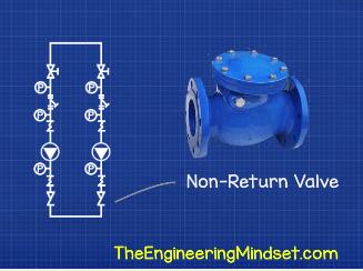 Pump set non return valve