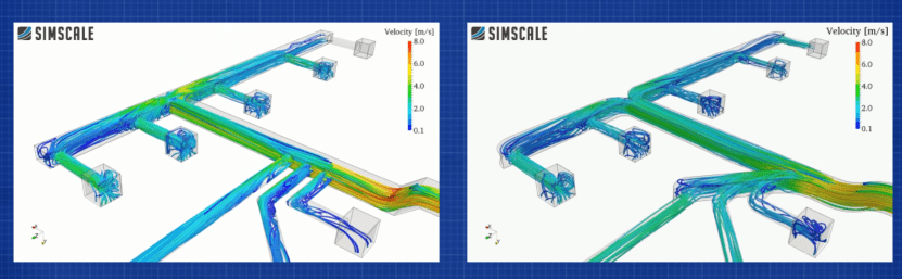 Ductwork CFD simulations