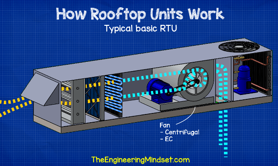 Rooftop unit fan