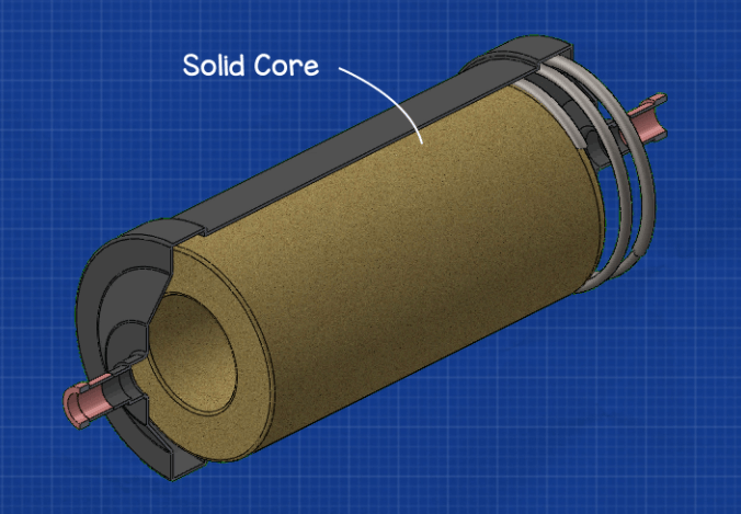 Filter drier solid core