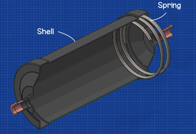 Filter drier spring