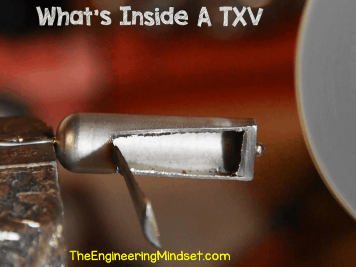 Inside a thermal expansion valve sensing bulb