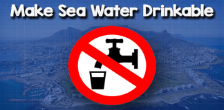 Make sea water drinkable
