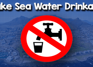 Make sea water drinkable