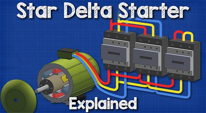 Star Delta Starters Explained The, Star Delta Starter Wiring Diagram 3 Phase With Timer