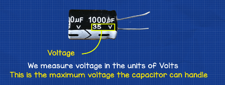 Example of capacitor voltage