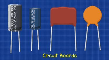 Example of capacitor circuit board