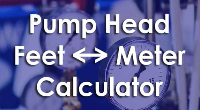 pump head calculator