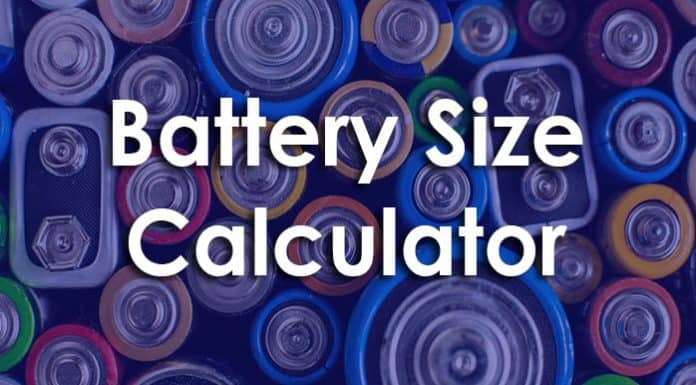 Battery size calculator