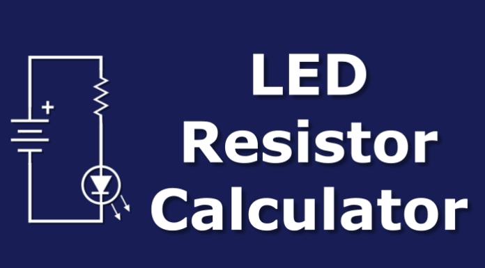 Single LED resistor calculator